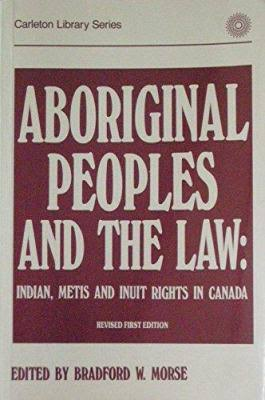 eBook - Aboriginal Peoples and the Law
